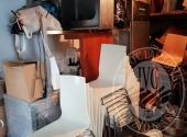 Fall. Mirò srl n. 452/2018 - Arredi (smontati) e attrezzature per ristorazione : 20 tavoli, 146 sedie, cucina, frigoriferi, affettatrice, friggitrice e altri piccoli elettrodomestici, elementi in acciaio, stoviglie, TVC, Tavoli, sedie, cappe aspiranti, pa