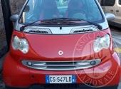 Autovettura SMART CITY COUPE targata CS 547 LD di colore rosso