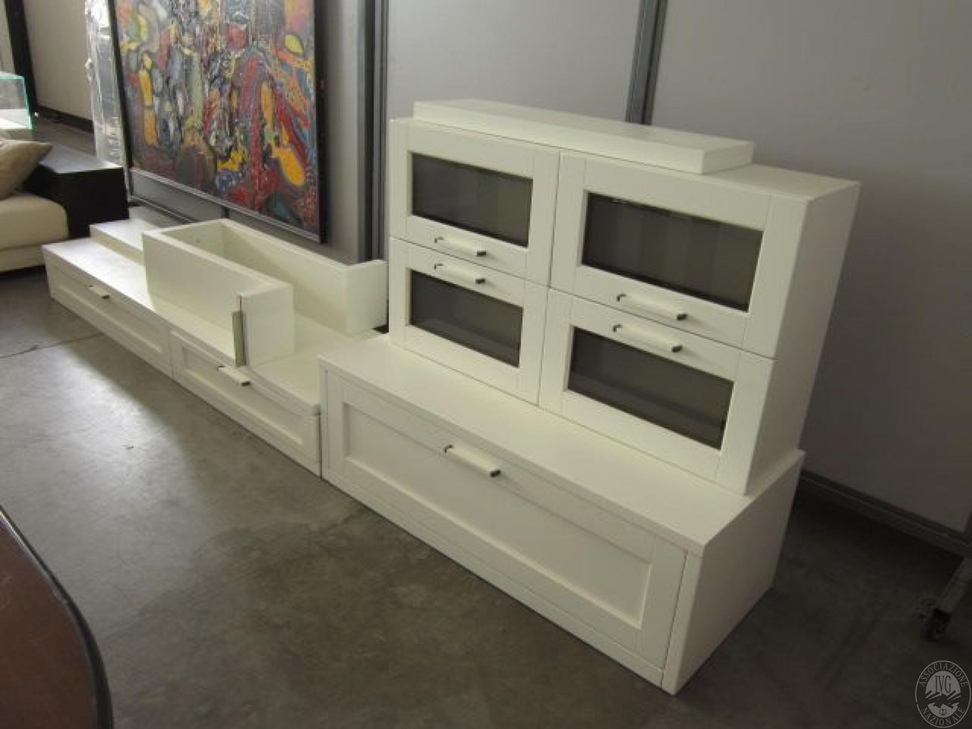 mobile soggiorno laccato bianco mis lineare mt 3 50 mobile soggiorno ...